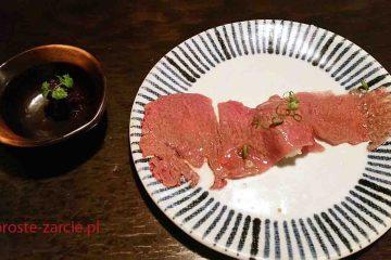 Wołowina z Kobe jako sashimi